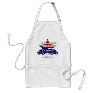 Patriotic America Star Design (v3) Adult Apron