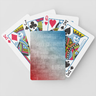 Patriotic America Text Graphic Bicycle Playing Cards