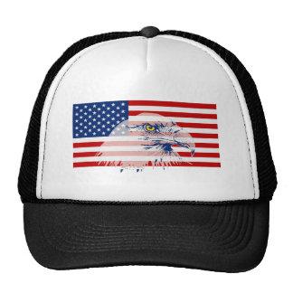 Patriotic American Bald Eagle & US Flag Hat