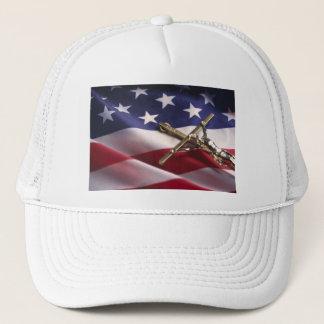 PATRIOTIC AMERICAN CHRISTIAN TRUCKER HAT