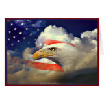 Patriotic American Eagle and Flag Card