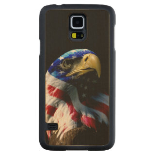 Patriotic American Eagle Carved Maple Galaxy S5 Case