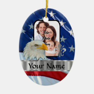 Patriotic American eagle Ceramic Oval Decoration