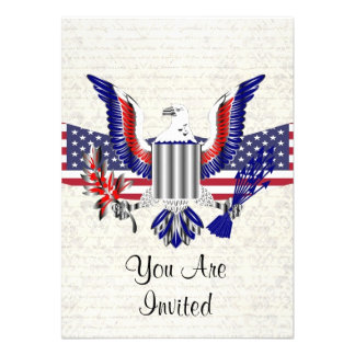 Patriotic American eagle flag Announcements