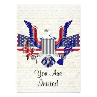 Patriotic American eagle & flag Announcements