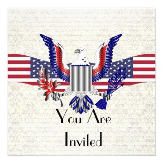 Patriotic American eagle flag Custom Announcement