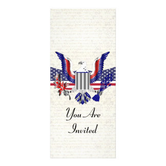 Patriotic American eagle flag Personalized Invitation