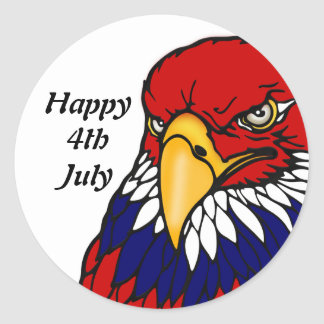 Patriotic American eagle July 4th Stickers