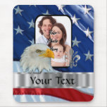 Patriotic American eagle Mouse Mat