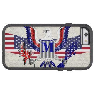 Patriotic American eagle personalized monogram Tough Xtreme iPhone 6 Case