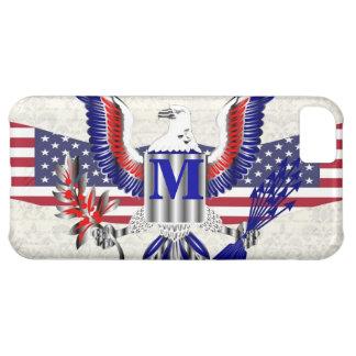 Patriotic American eagle personalized monogram iPhone 5C Case