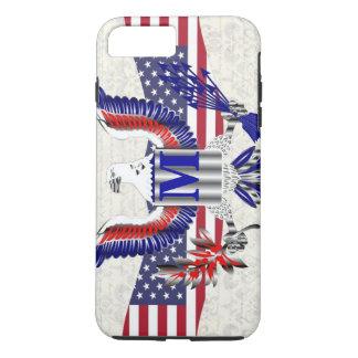 Patriotic American eagle personalized monogram iPhone 7 Plus Case