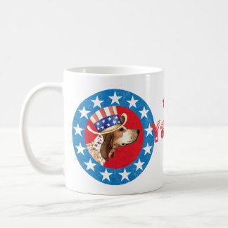 Patriotic American English Coonhound Basic White Mug