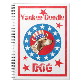 Patriotic American English Coonhound Spiral Notebook