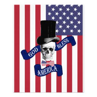 Patriotic American flag 11.5 Cm X 14 Cm Flyer