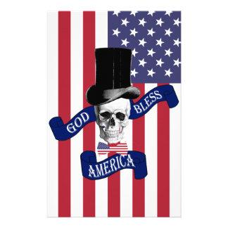 Patriotic American flag 14 Cm X 21.5 Cm Flyer