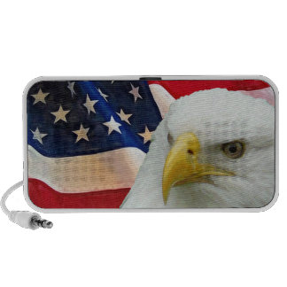 Patriotic American Flag and Bald Eagle Notebook Speakers