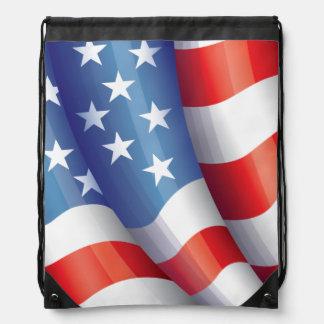 Patriotic American Flag Back Pack Rucksacks