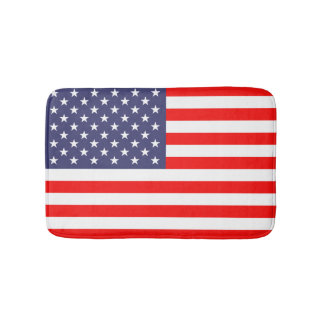 Patriotic American flag bathroom non slip bath mat