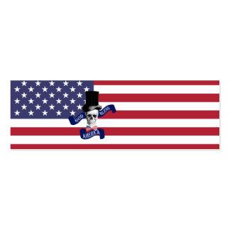 Patriotic American flag Business Card Template