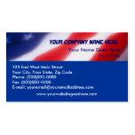 Patriotic American Flag Business Cards