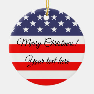 Patriotic American flag Christmas tree ornament