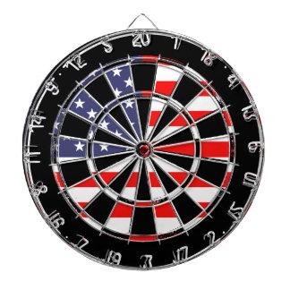 Patriotic American flag dartboard design | Grungy