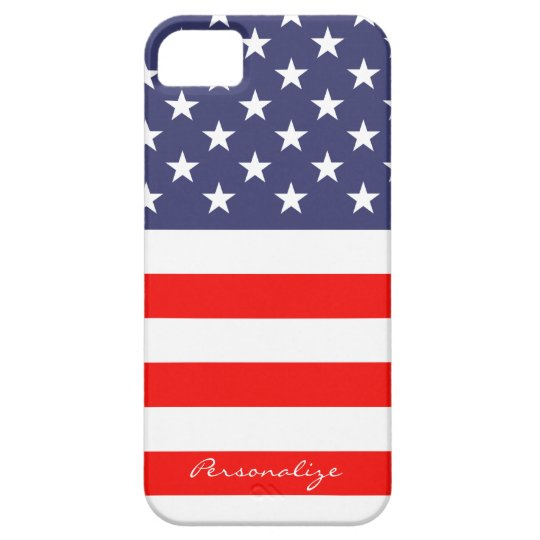 Patriotic American Flag Iphone 5 case Personalise