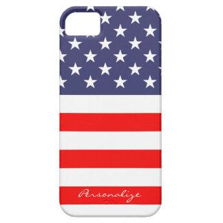 Patriotic American Flag Iphone 5 case Personalize