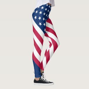 5f5cf698b8a635 Women's Blue And White Stripes Leggings & Tights | Zazzle UK