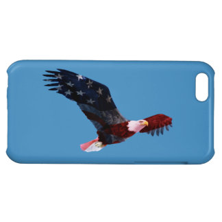 Patriotic American Flag On Bald Eagle iPhone 5C Cases