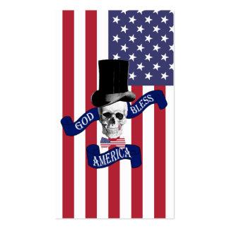 Patriotic American flag Pack Of Standard Business Cards