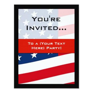 Patriotic American Flag Party Invitations, General
