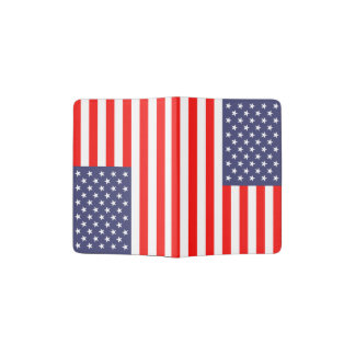 Patriotic American flag passport holder