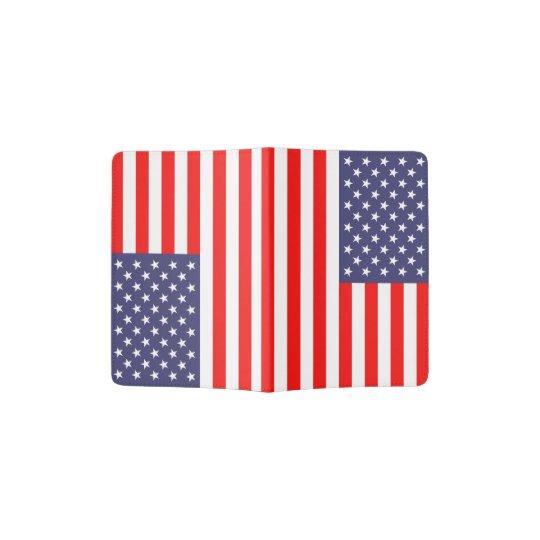Patriotic American flag passport holder