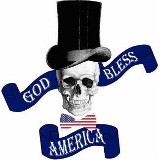 Patriotic American flag Photo Sculpture Badge