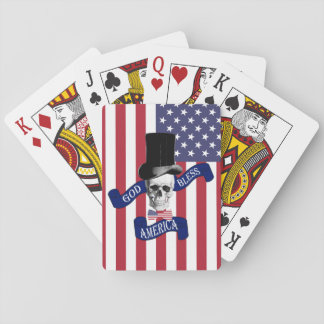 Patriotic American flag Playing Cards
