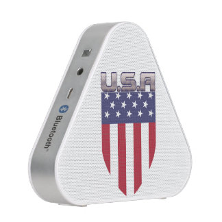 Patriotic American Flag Shield Speaker