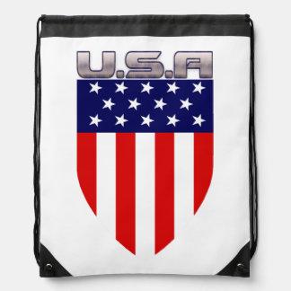 Patriotic American Flag Shield Rucksack