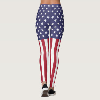 Patriotic American Flag Stars and Stripes Leggings