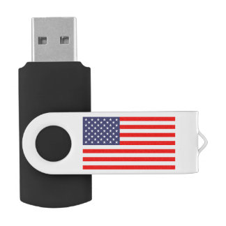Patriotic American flag swivel USB flash drive