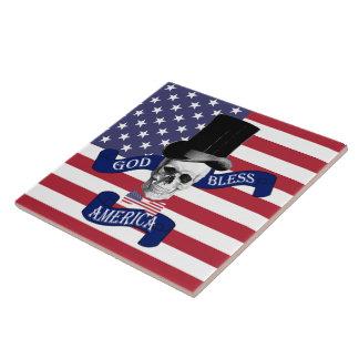 Patriotic American flag Tile