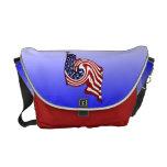 Patriotic American Flag Whirlwind Flow Messenger