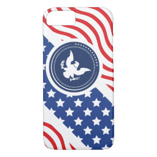 Patriotic American Flag with Eagle iPhone 7 Case