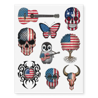 Patriotic American Flags Collection