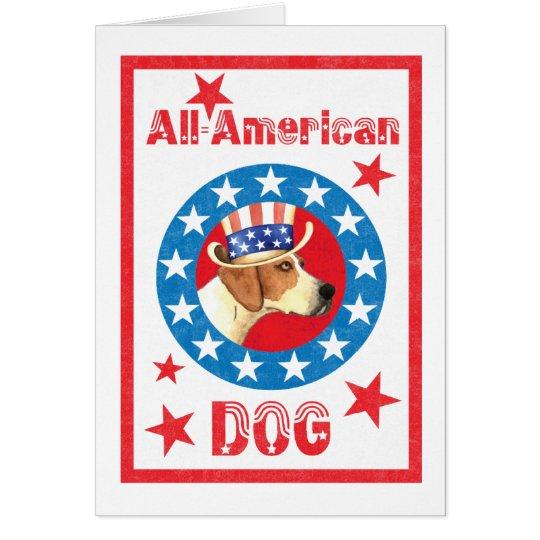 Patriotic American Foxhound Card