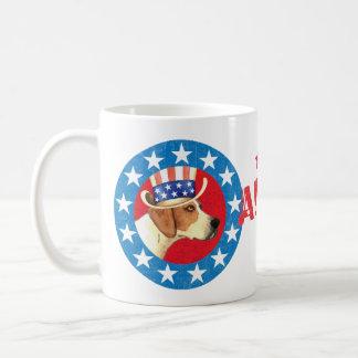 Patriotic American Foxhound Coffee Mug