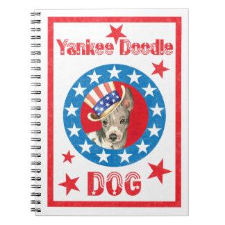 Patriotic American Hairless Terrier Notebook