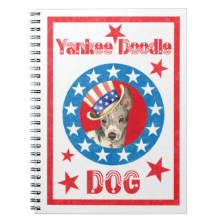 Patriotic American Hairless Terrier Spiral Notebooks