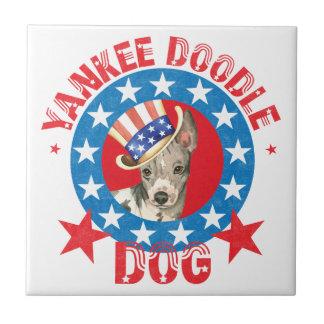 Patriotic American Hairless Terrier Tile